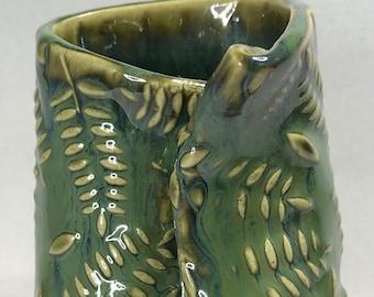 Green Fern Bud Vase