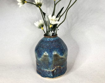 Blue Over Green Bud Vase