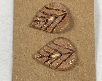 Carved Leaf Buttons