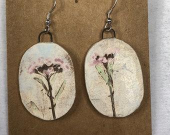 Floral Imprint Earrings