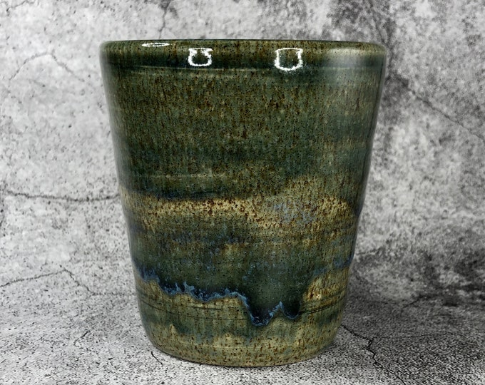 Green Stoneware Tumbler