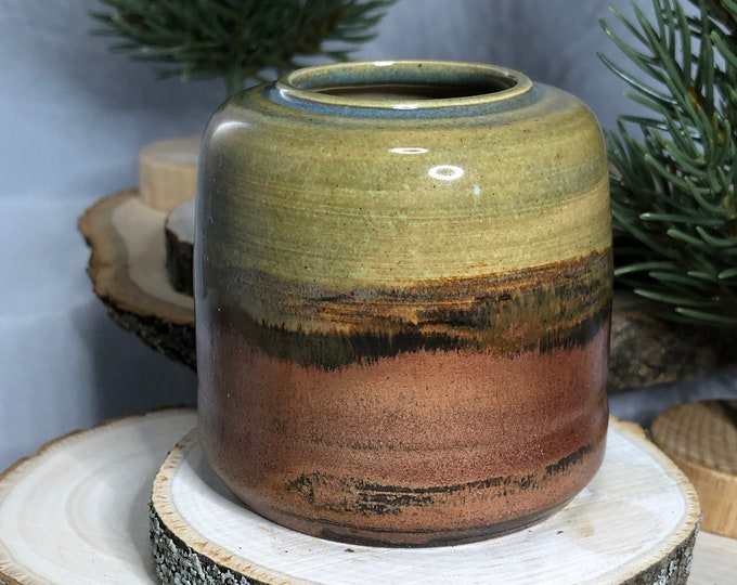 Green and Copper Vase