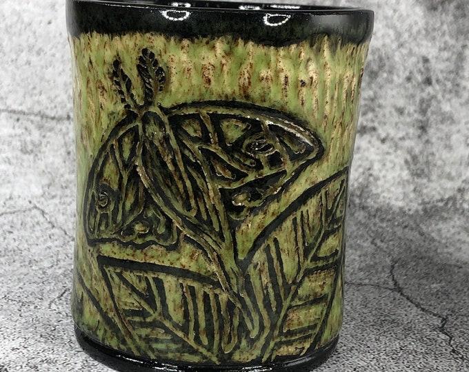 Sgraffito Luna Moth Cup