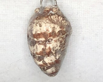 Small Brown Sea Shell Ceramic Pendant