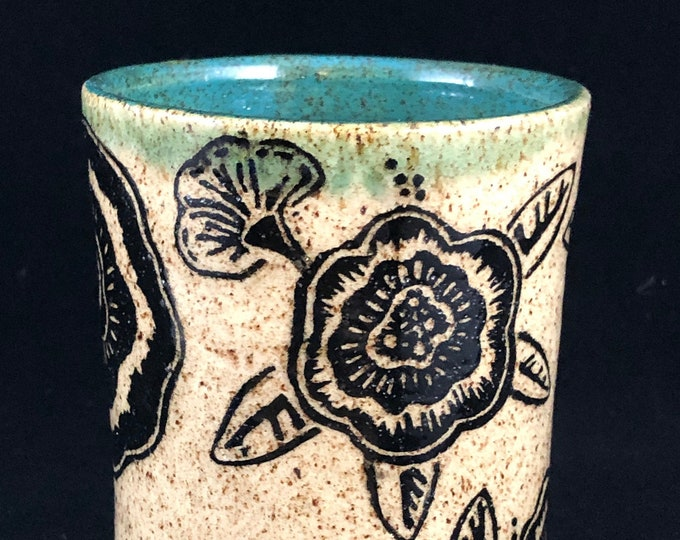 Featured listing image: Sgraffito Floral Tumbler
