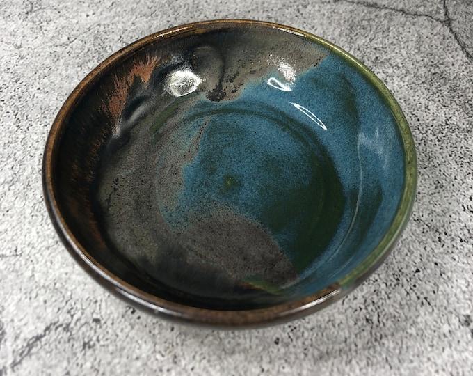 Tourmaline Blue and Oxidized Copper Trinket Dish