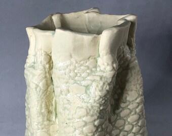 Lace Pouch Vase