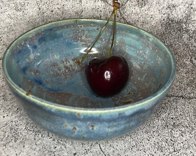 Small Light Blue Stoneware Prep Bowl
