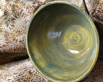 Washes of Green Medium Serving Bowl