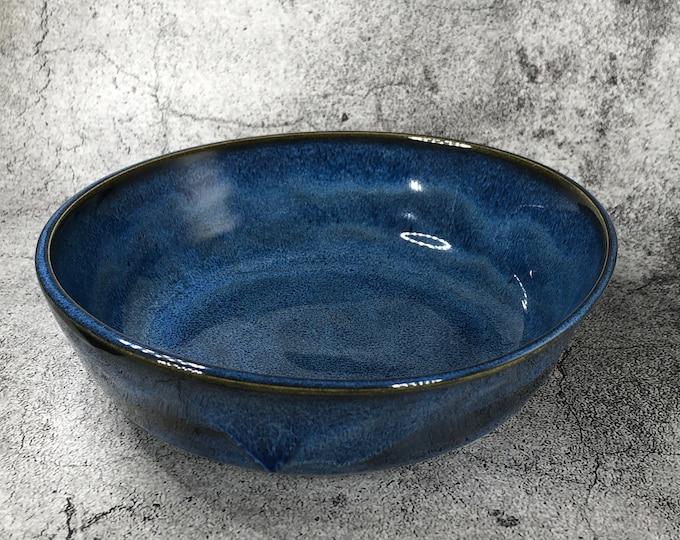 Blue Shallow Serving Bowl