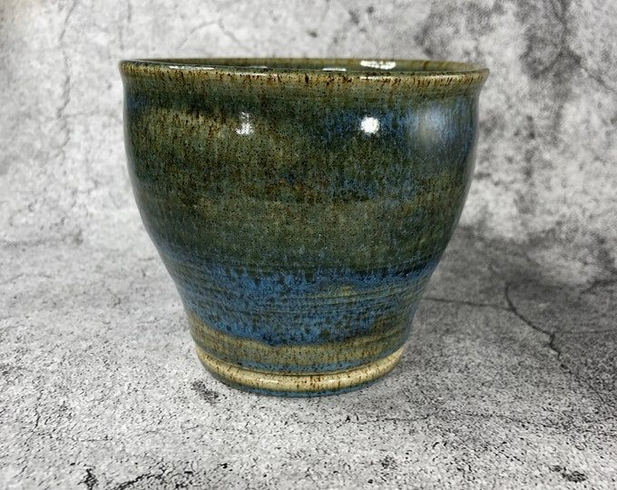 Green and Blue Stoneware Bowl
