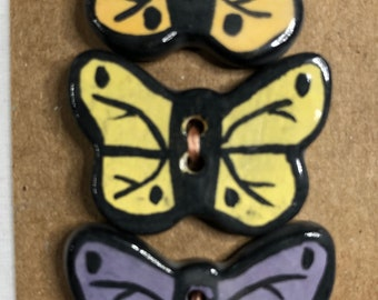 Tri-Color Butterfly Buttons