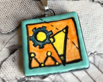 Maker Ceramic Pendant