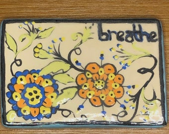 Breathe Floral  Needle Minder