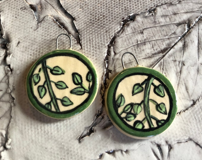 Circle of Leaves Earrings