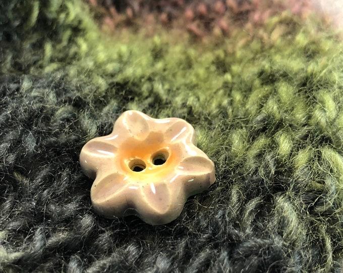 """Lavender Flower 1"""" Button"""
