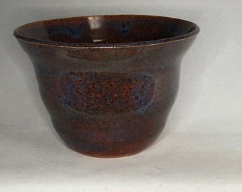Brown and Blue Small Serving Bowl