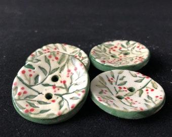 Winter Berry Buttons