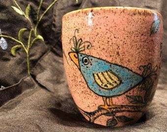 Zany Bird Stoneware Mug