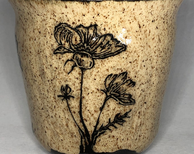 Featured listing image: Cosmos Sgraffito Utensil Crock