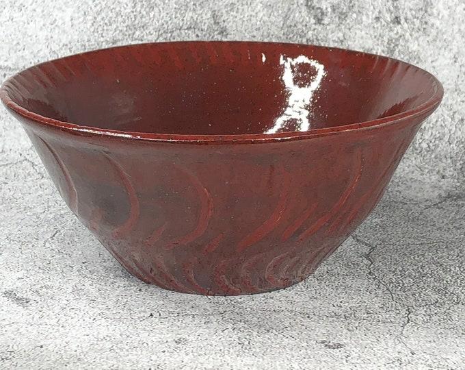 Deep Fire Brick Red Bowl