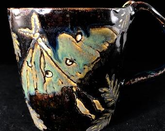 Lunar Moths in the Night Stoneware Mug