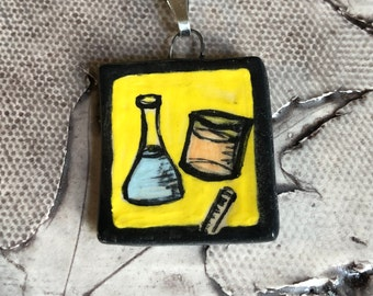 Science Ceramic Pendant