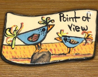 Point of View Zany Bird Needle Minder