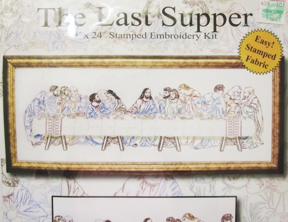 Last Supper Stamped Embroidery Kit Design Works Nib Etsy