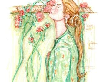 Fashion Illustration- Sweet Rose