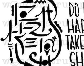 Witchy Sigil Stencil Series: Do No Harm, Take no Sh** NSFW