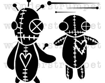 Voodoo Doll Witchcraft Stencil Mylar Plastic 190mic A4 sheet size  strong reusable Painting Airbrush Craft Art Furniture Wall Deco