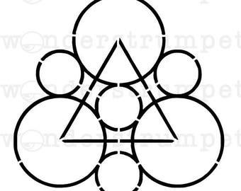 Triangle in Circles Crop Circle Stencil