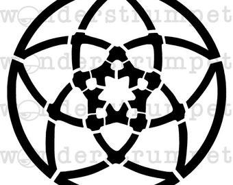Venus Flower Stencil