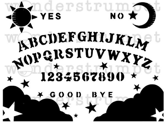 Halloween Stencil Series Spirit Board