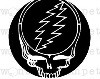 Grateful Dead Stealie inspired Stencil