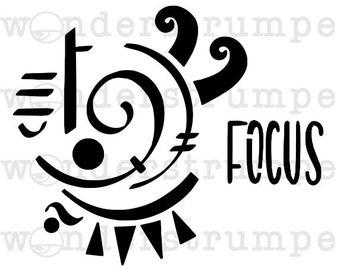 Witchy Sigil Stencil Series: Focus