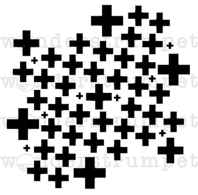 Plus Sign Background Stencil image 0