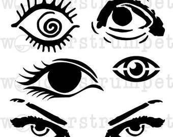 Eye See You Stencil