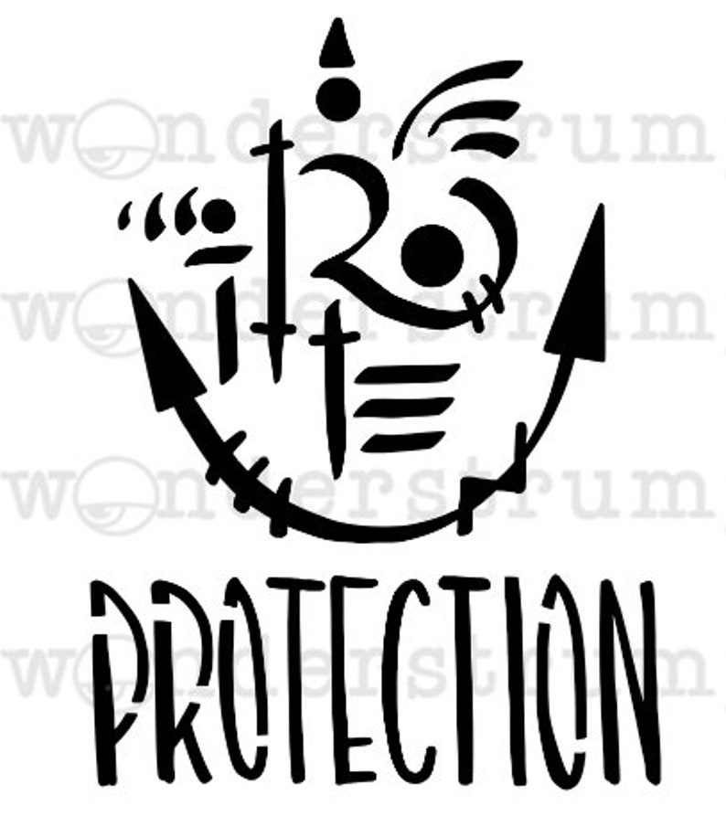 Witchy Sigil Stencil Series Protection Etsy