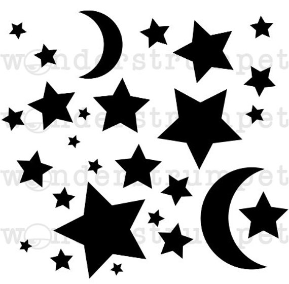 Moon and Stars 783-A021 Stencil