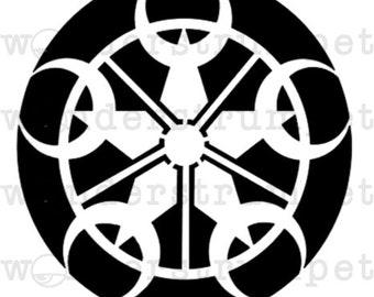 Star Crop Circle Stencil