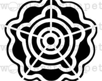 Crop Circle Rose Stencil