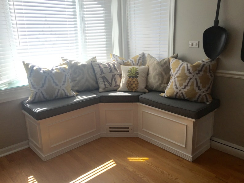 Charmant Banquette  Corner Bench Seat With Storage RAW Or FINISHED
