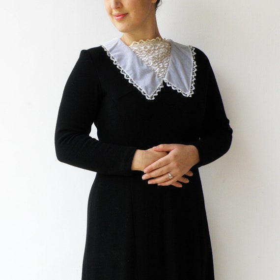 Vintage Black Dress / Little Black Dress with Lac… - image 6
