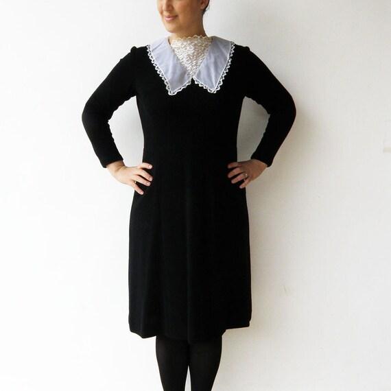 Vintage Black Dress / Little Black Dress with Lac… - image 2