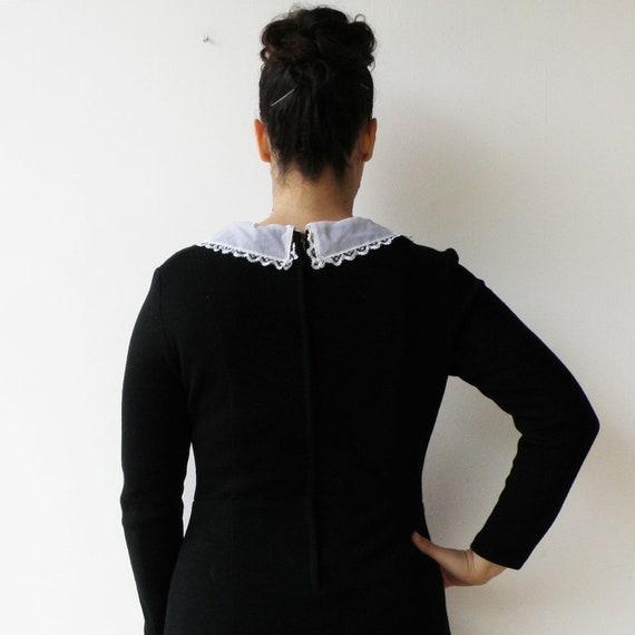 Vintage Black Dress / Little Black Dress with Lac… - image 4