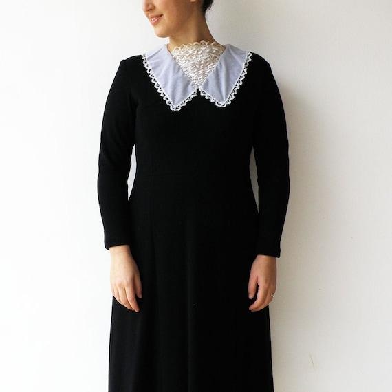 Vintage Black Dress / Little Black Dress with Lac… - image 1