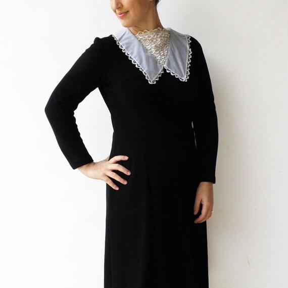 Vintage Black Dress / Little Black Dress with Lac… - image 5