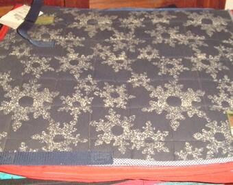"Horse Saddle Pad ""Flannel Snowflake"" Dressage Pad"